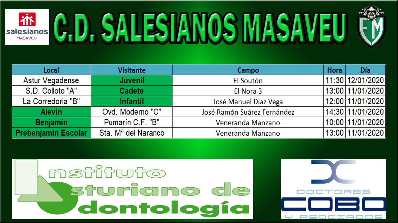 HORARIOS 11 Y 12 DE ENERO