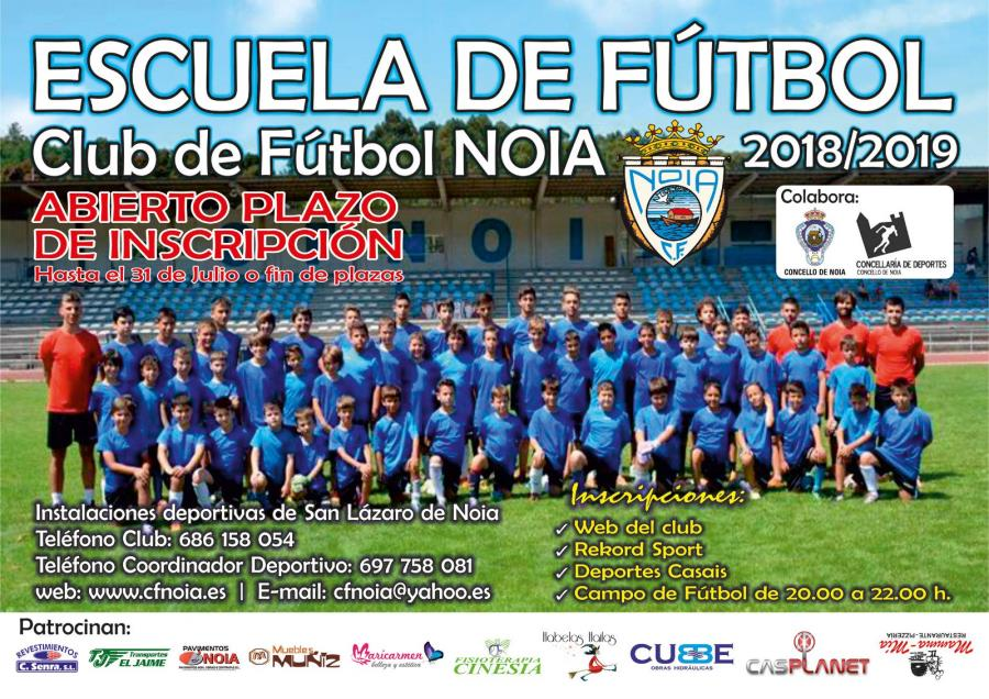 Abierta inscripción fútbol base temporada 2018/2019