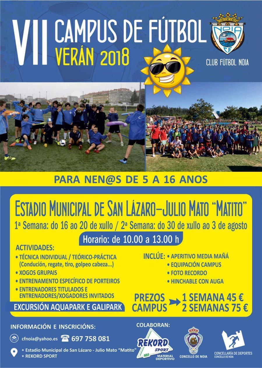 Apertura de inscripción en el VII Campus de Fútbol CF Noia