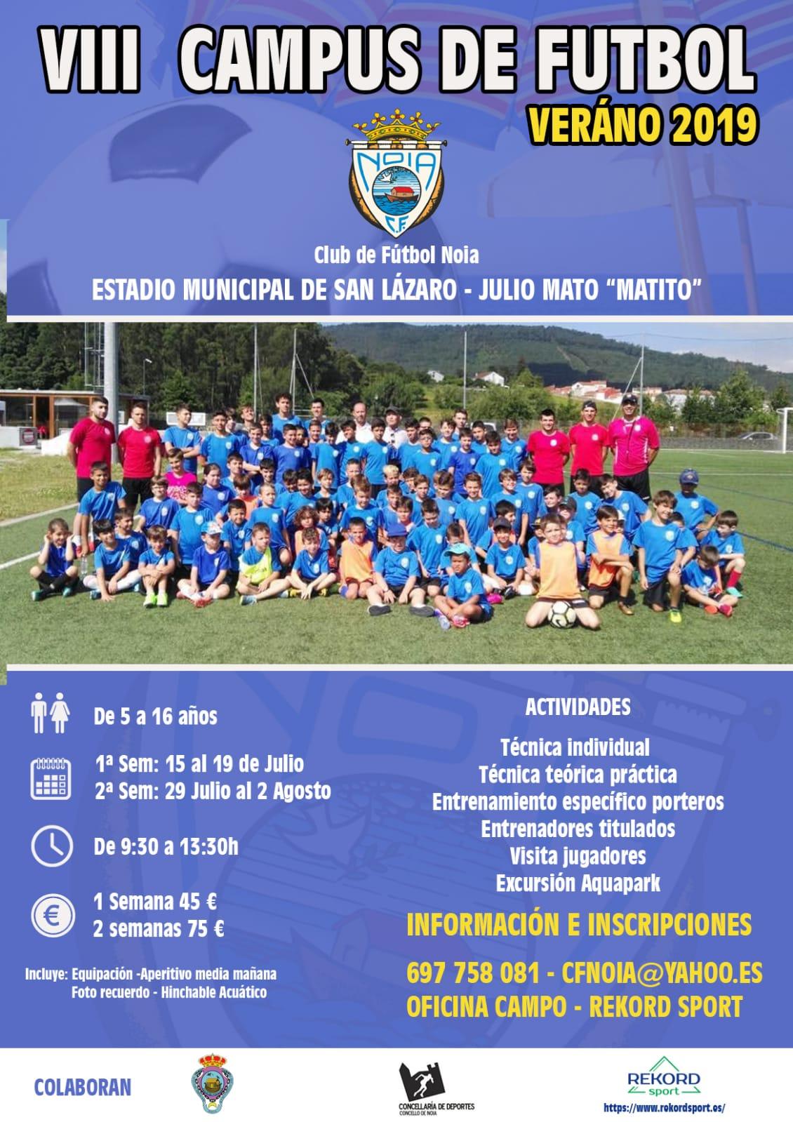 VIII CAMPUS DE FUTBOL - VERANO 2019