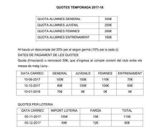 QUOTES TEMPORADA 2017-18