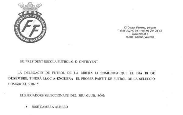 José Cambra, repeteix a la nova convocatòria de la Sub-15