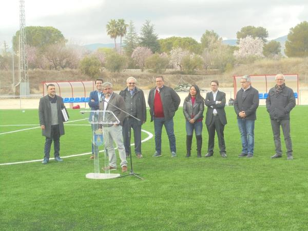 Inaugurat el nou camp de gespa a La Puríssima