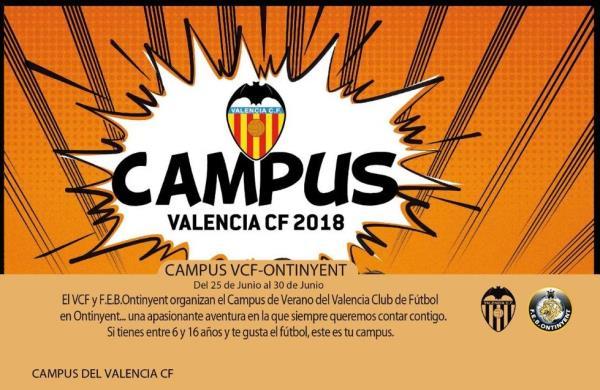 Oberta la inscripció pel Campus del Valencia CF 2018 a Ontinyent