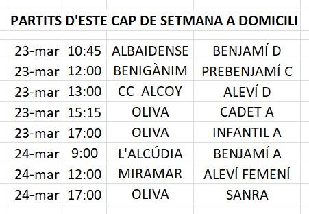 Fins 15 partits es juguen a la Puríssima este cap de setmana