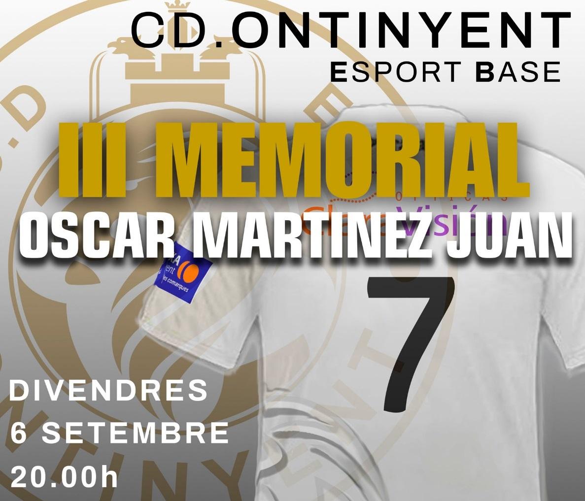 El Clariano acollirà el III Memorial Oscar Martinez
