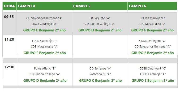 El Benjamí C present a la X Copa Federació este diumenge 19