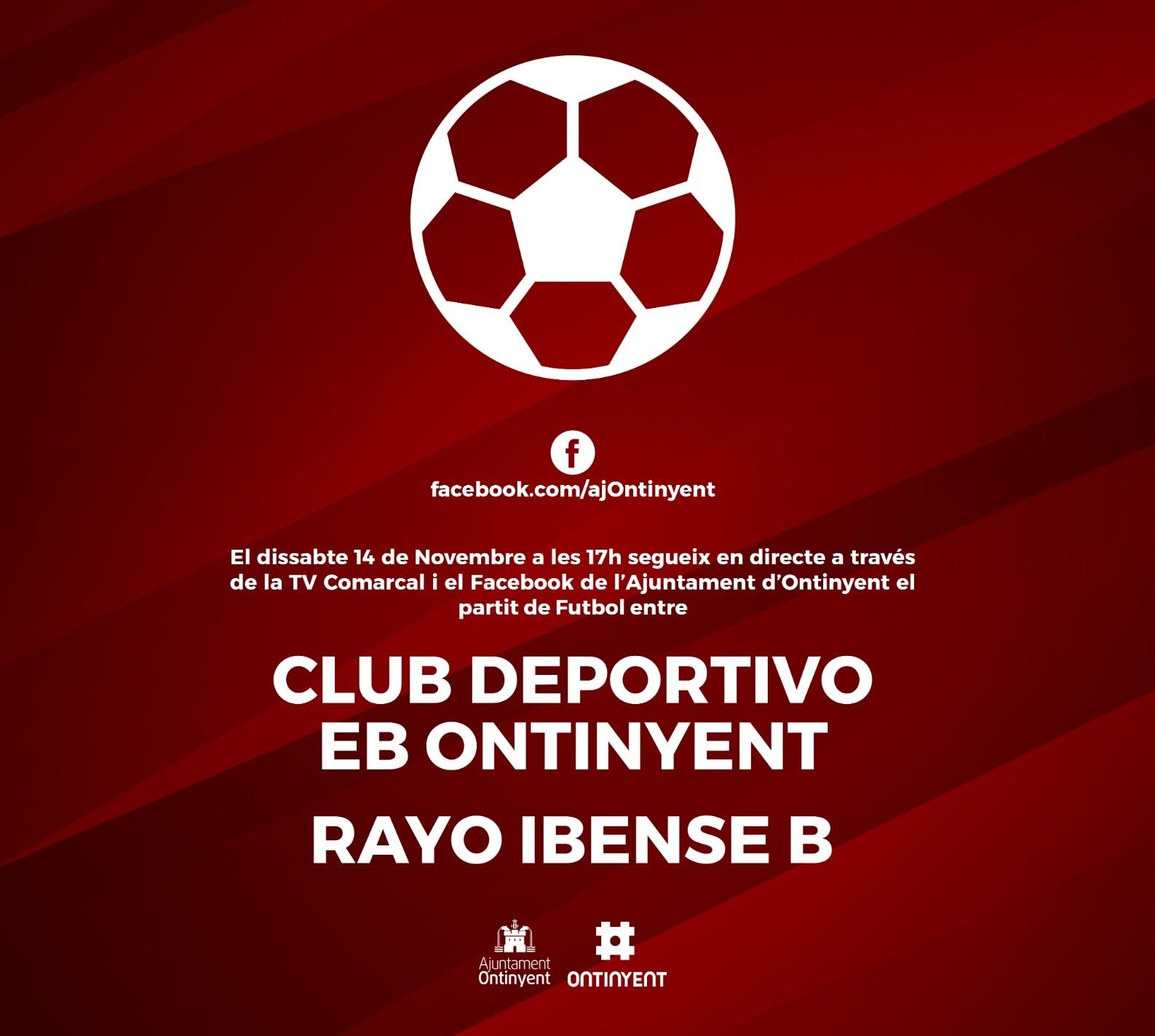 El Deportivo vs Rayo Ibense B, es vorà en directe al Facebook i la TV Comarcal