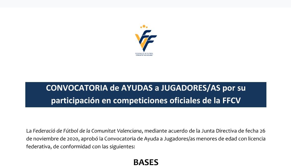 El nostre Club, presenta 6 sol·licituds per a les beques de la FFCV