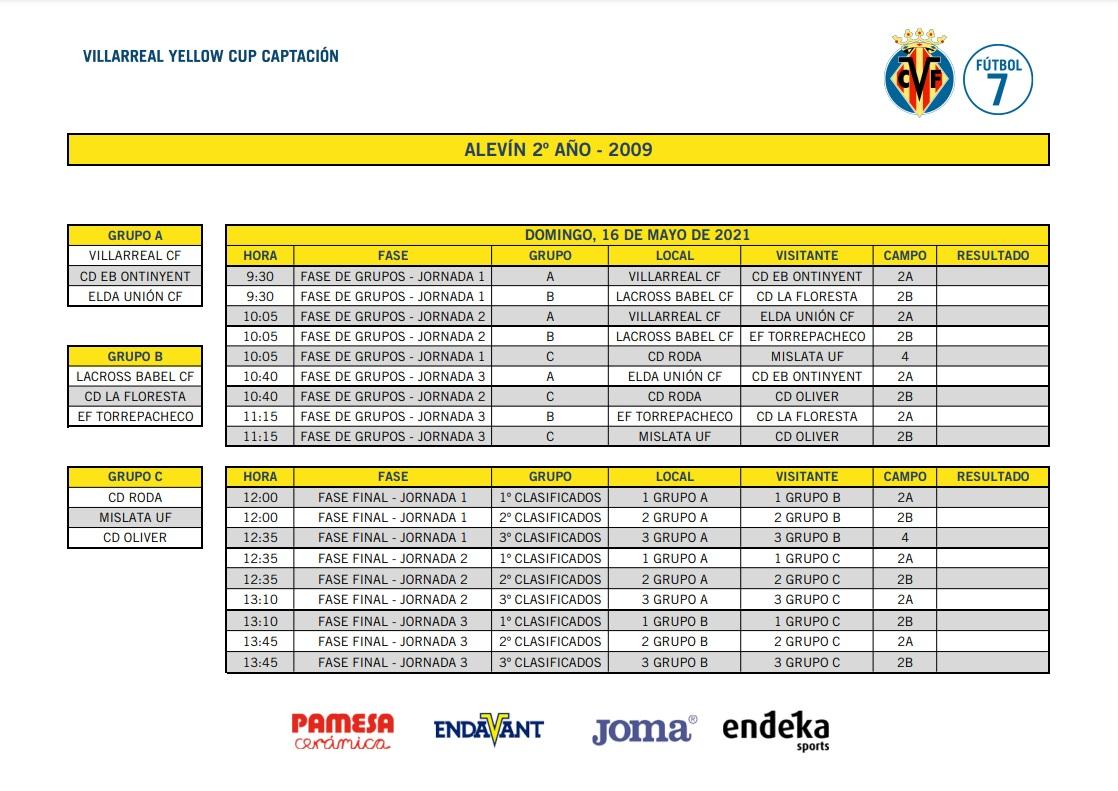 sdsEls Alevins de la nostra Escola viatjen diumenge a la Villarreal Yellow Cup
