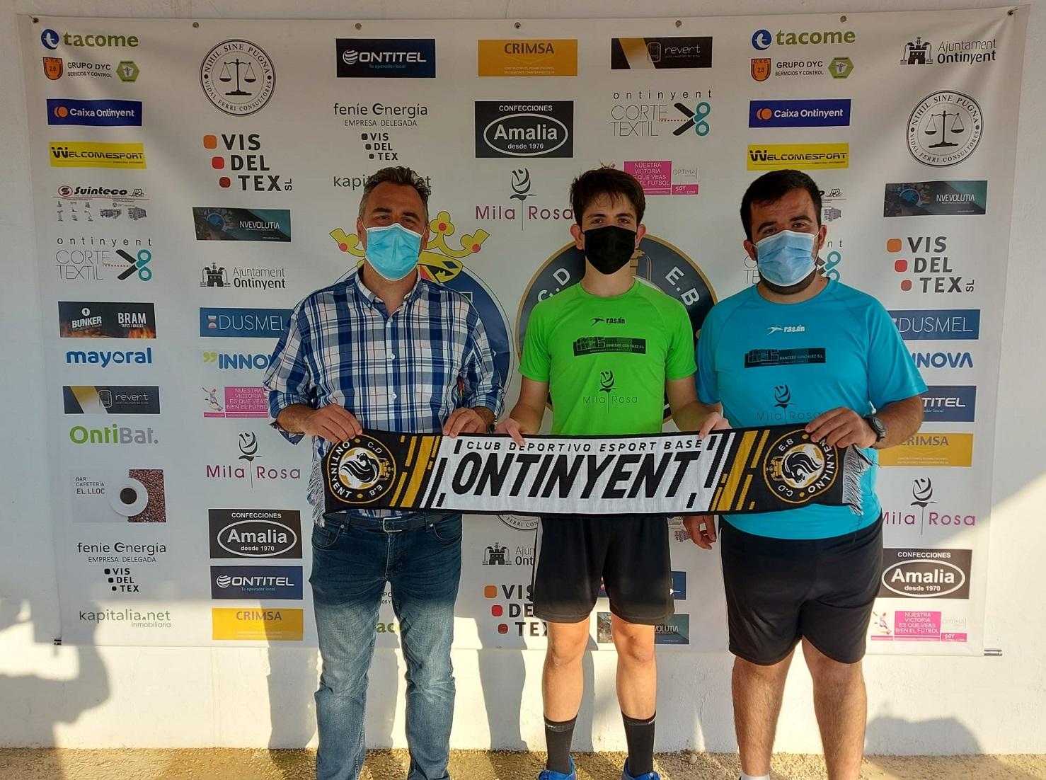 El porter Borja Albiñana continuarà defensant els colors de la nostra Escola