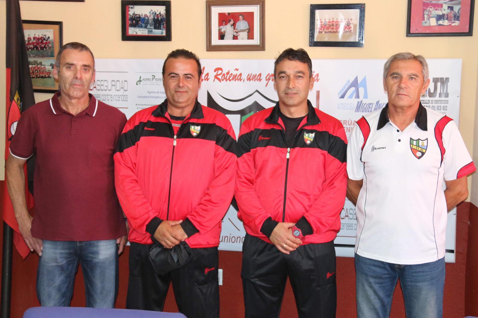 Jose Calvo y Juan José García Valdés, responsables del Alevín A