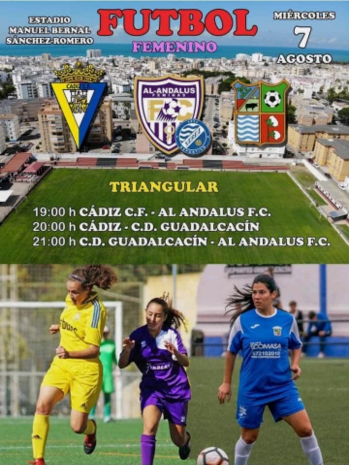 Triangular de fútbol femenino en el Estadio Manuel Bernal Sánchez-Romero
