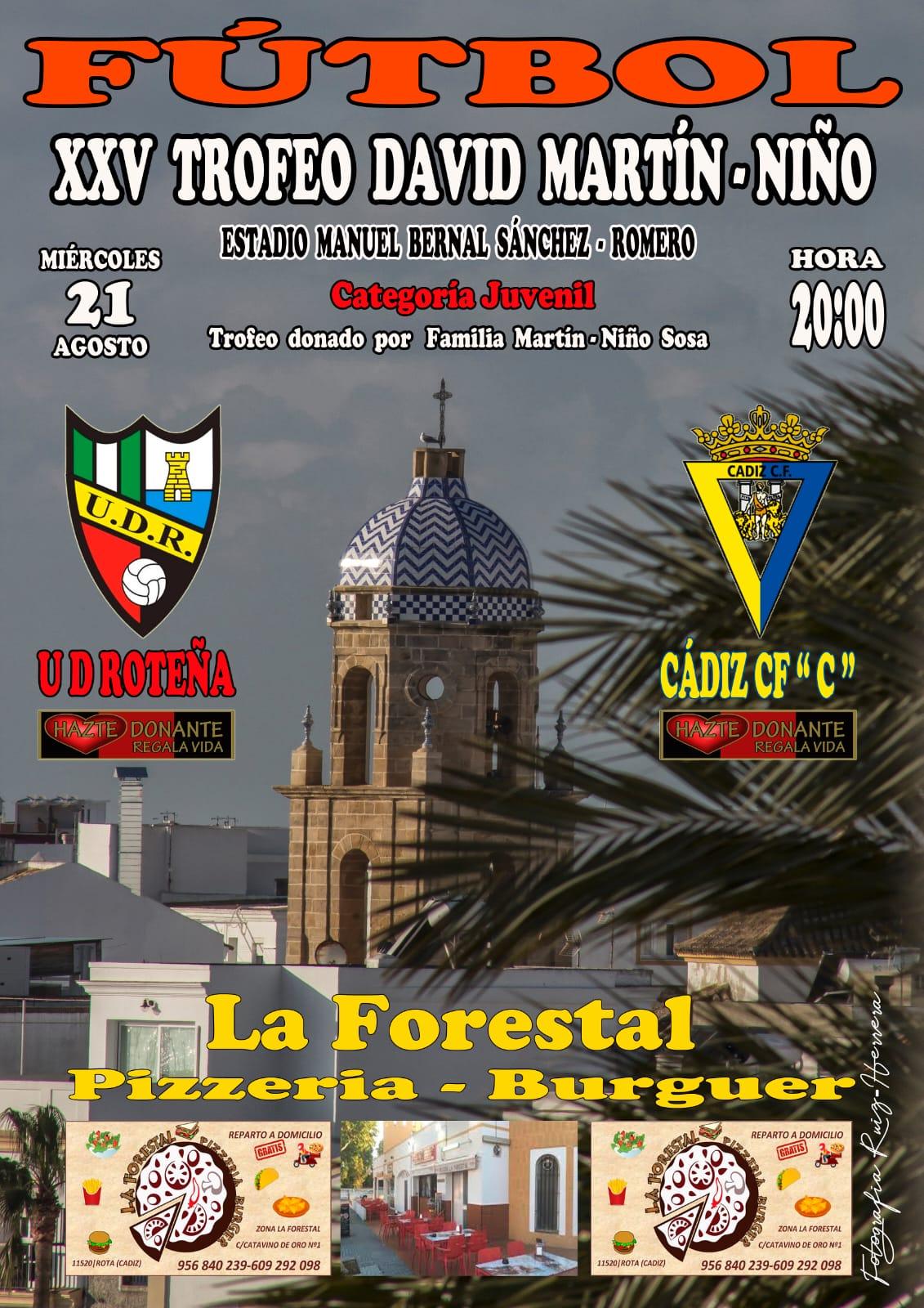 Los juveniles de la U.D. Roteña y el Cádiz C.F. jugarán el XXV Trofeo David Martín-Niño