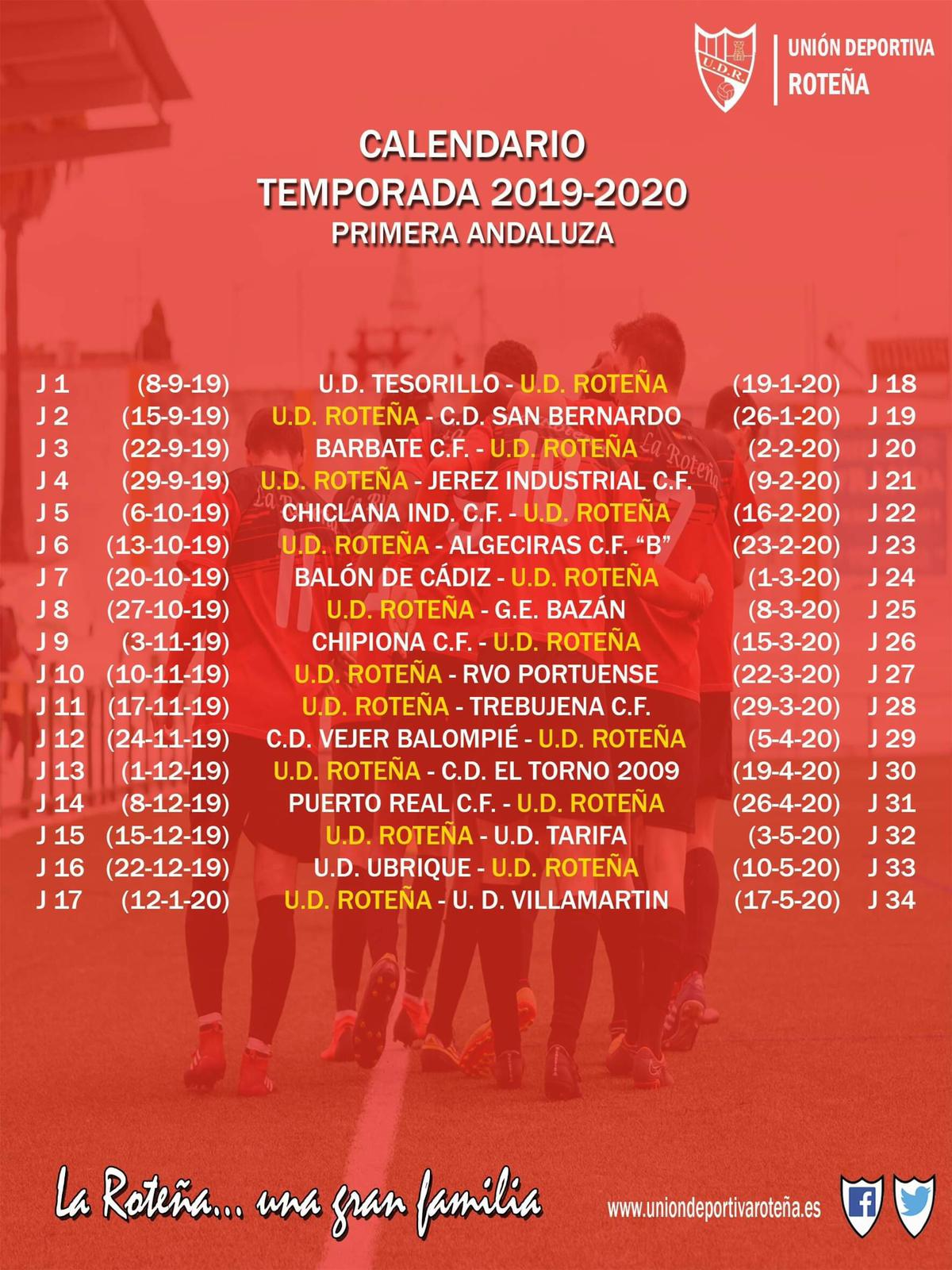 Calendario 2019/2020 Primera Andaluza