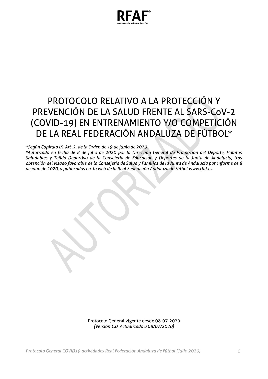 Protocolo RFAF Covid-19