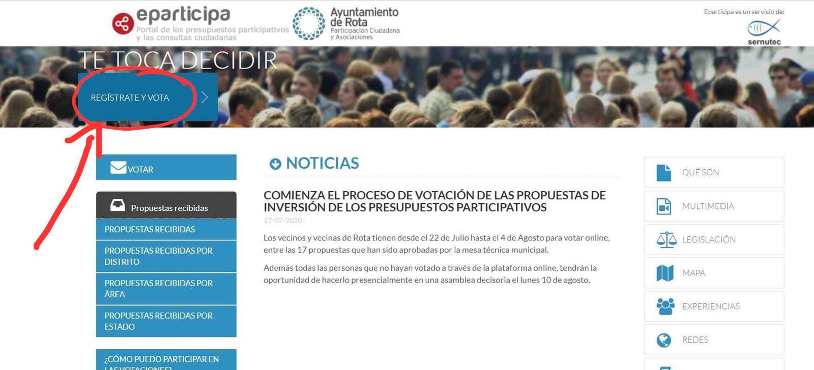 Votación presupuestos participativos.- Cubierta tribuna Estadio Manuel Bernal Sánchez-Romero