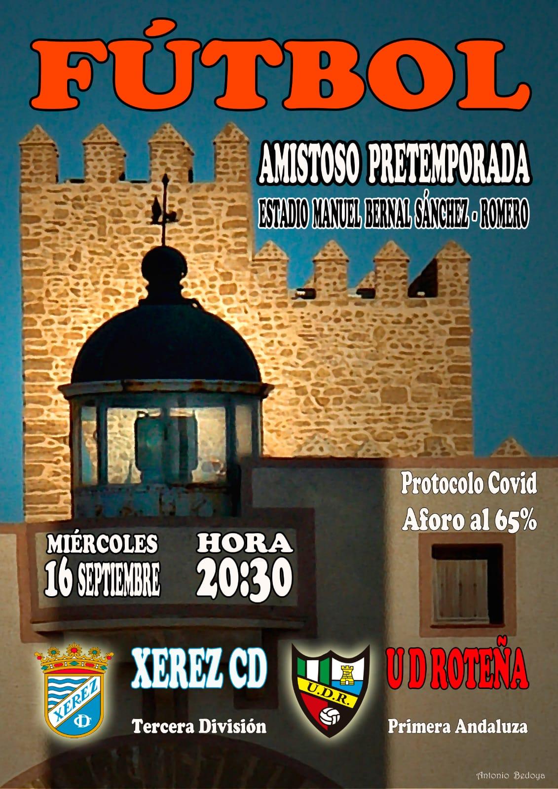 UD Roteña - Xerez CD, primer amistoso de pretemporada
