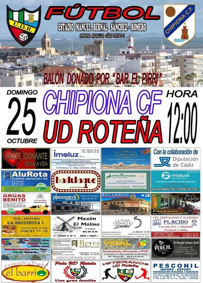 UD Roteña - Chipiona CF, primer partido de liga