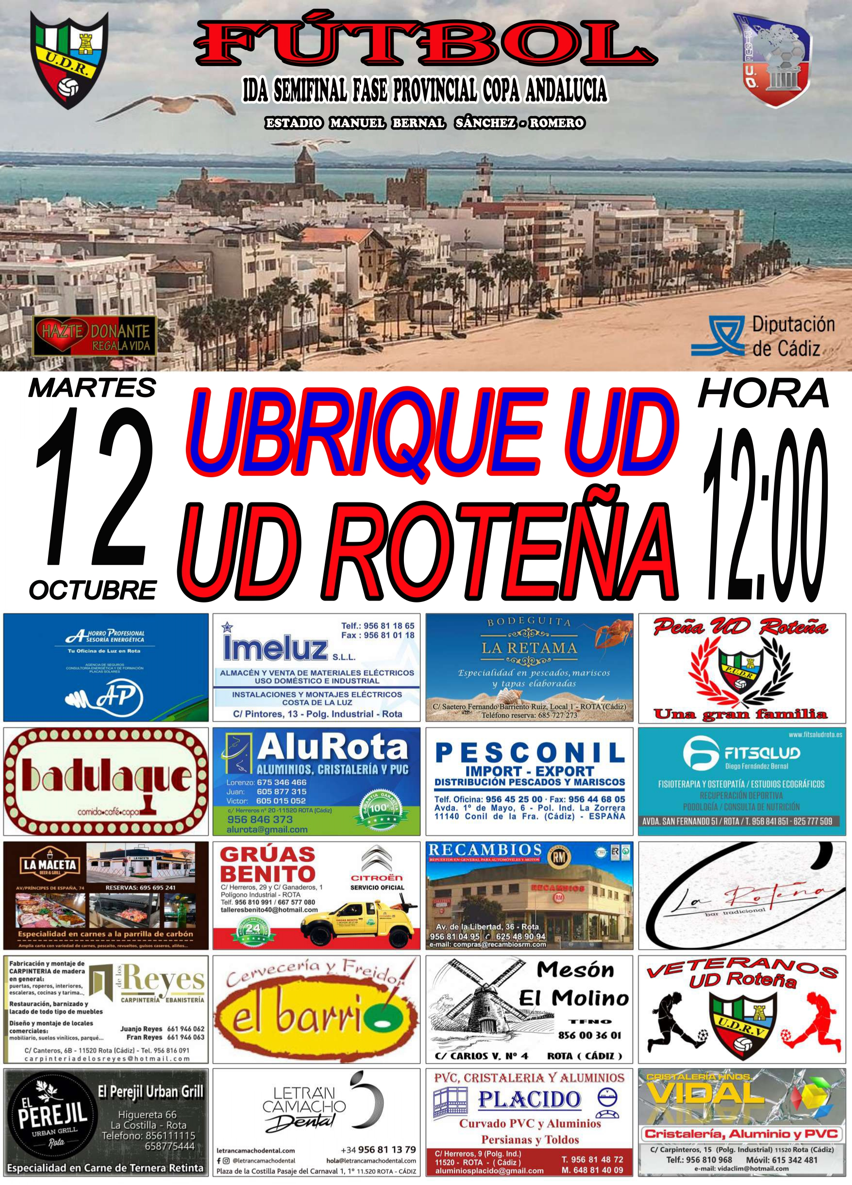 UD Roteña - Ubrique UD, ida semifinales Copa Andalucía (fase provincial)