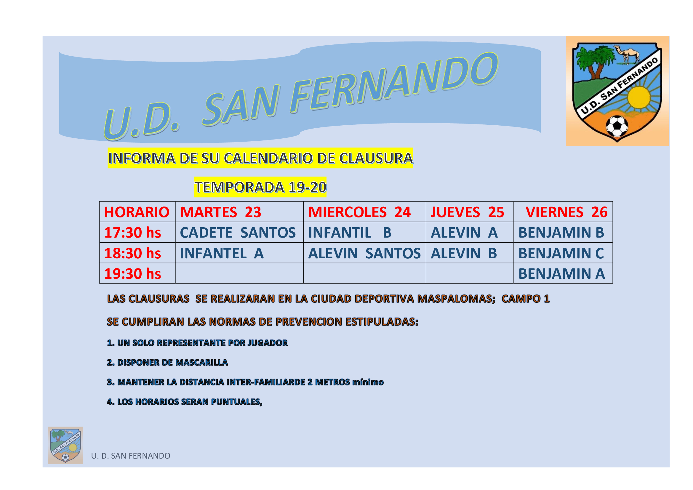 CLAUSURA TEMPORADA 19/20