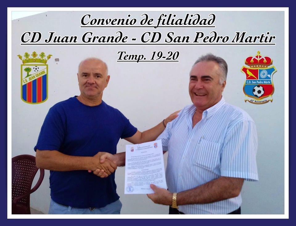 Convenio entre el CD San Pedro Mártir y el CD Juan Grande