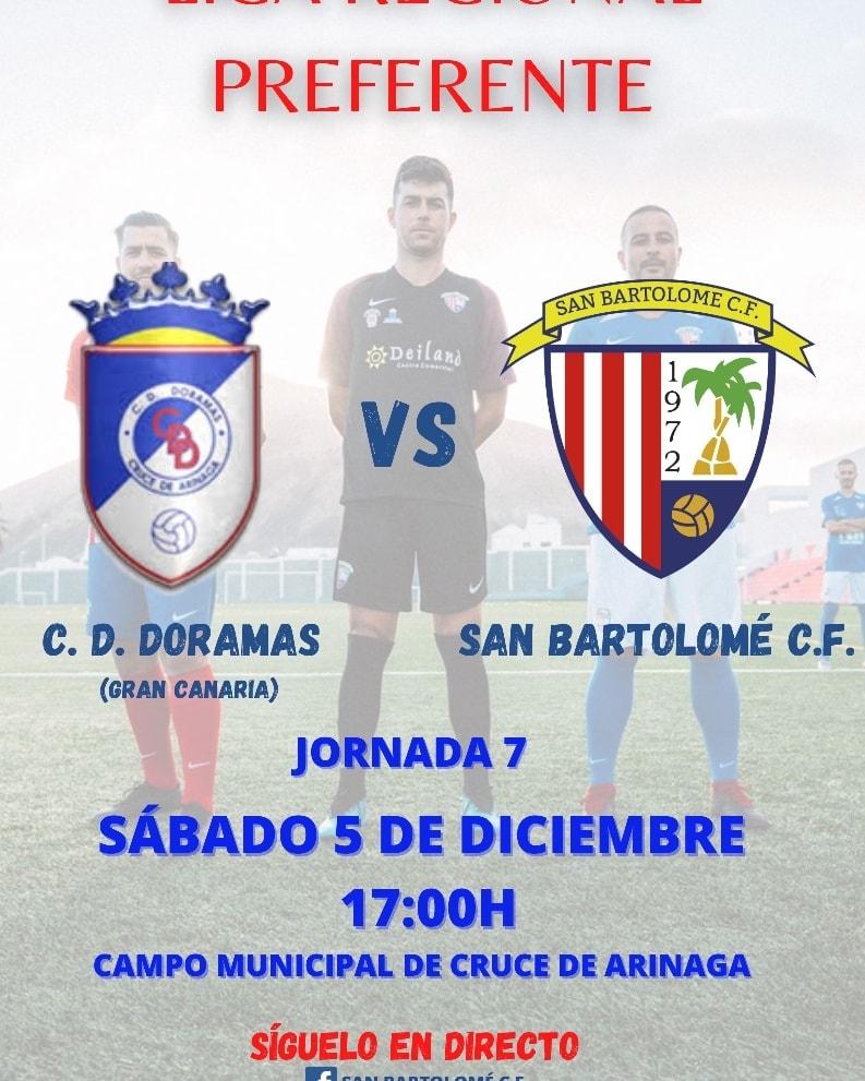 JORNADA 7: C. D. DORAMAS - SAN BARTOLOMÉ C. F.