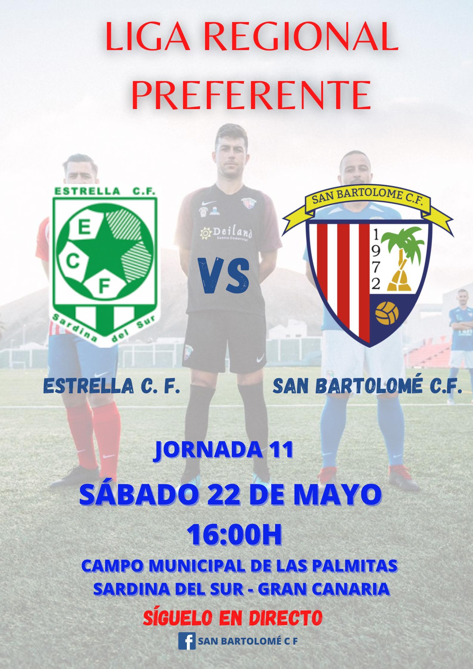 JORNADA 11: ESTRELLA C. F. - SAN BARTOLOMÉ C. F.