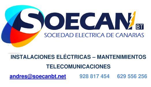 INSTALADORA ELÉCTRICA SOECAN BT S. L.