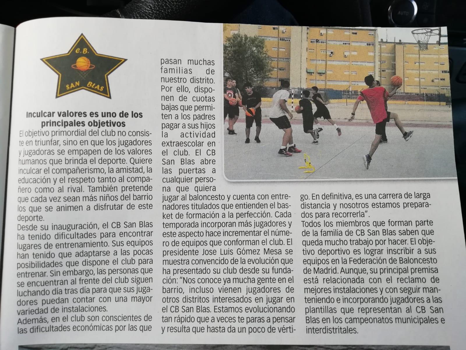 """""""El Club Baloncesto San Blas se consolida en el distrito"""""""