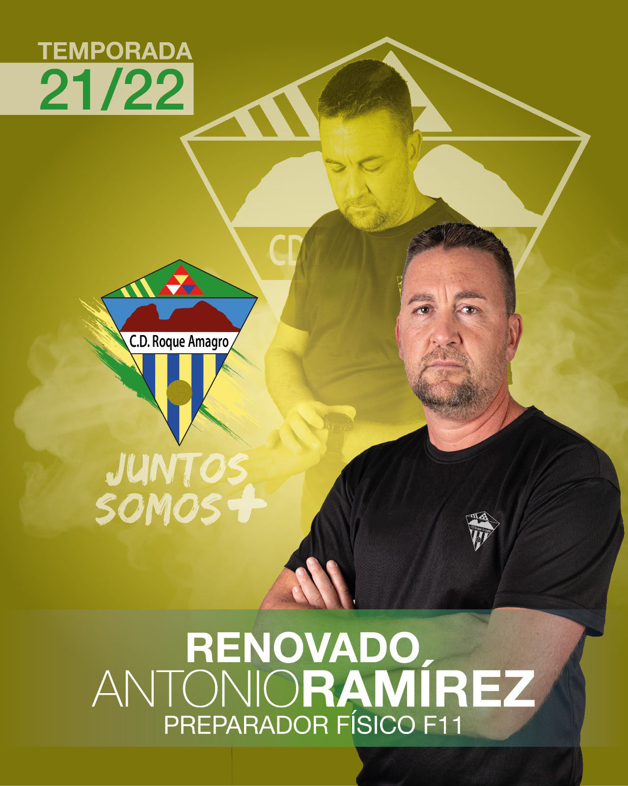 Antonio Ramírez, continuará una temporada más, como responsble de la Preparación Física del Fútbol 11