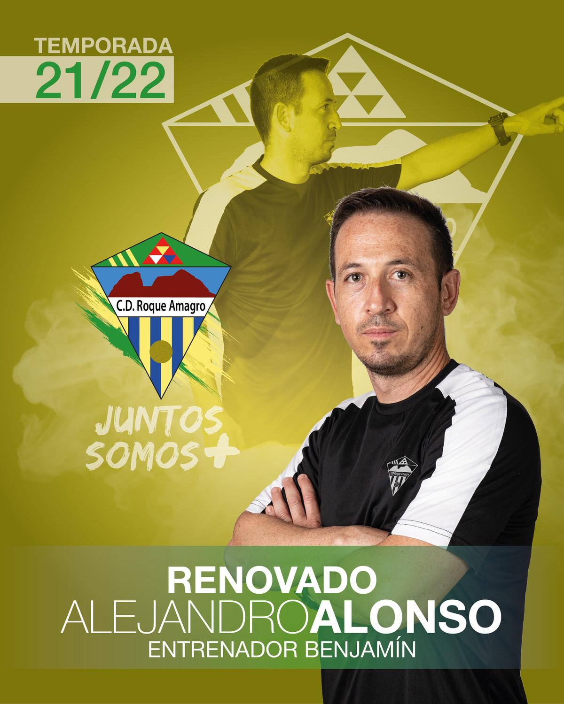 sdsALEJANDRO Alonso Entrenador del Benjamín del C. D. Roque Amagro en la Temporada 21/22