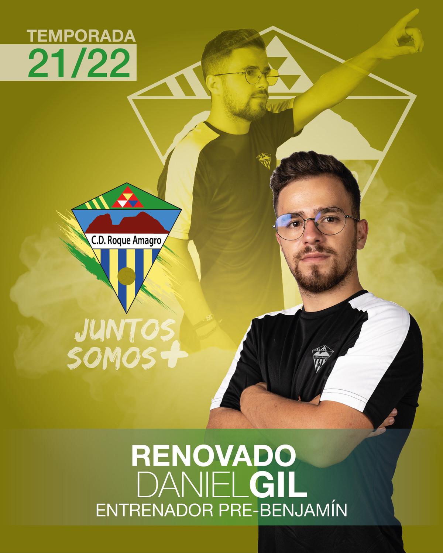 sdsDaniel  Gil Entrenador del Pre-Benjamín del C. D. Roque Amagro en la Temporada 21/22