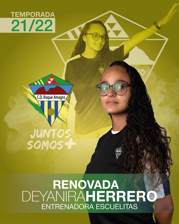sdsDeyanira Herrero Entrenadora/Educadora de la Escuelita del C. D. Roque Amagro en la Temporada 21/22