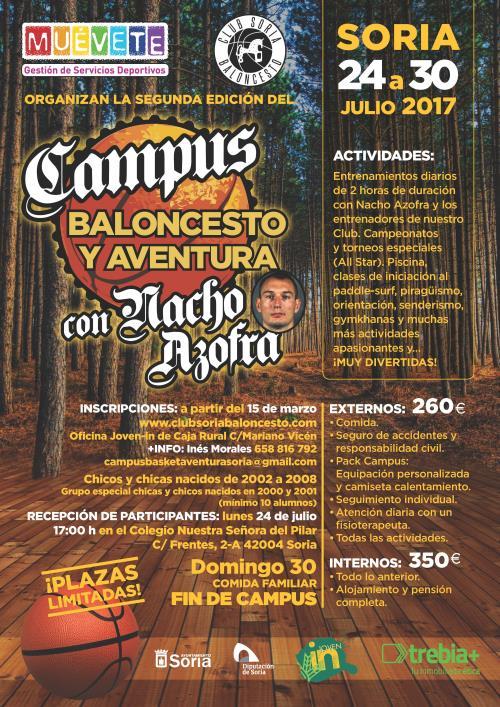 II CAMPUS DE BALONCESTO Y AVENTURA CON NACHO AZOFRA