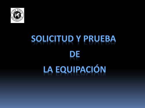 SOLICITUD Y PRUEBA DE LA EQUIPACION 2018-2019