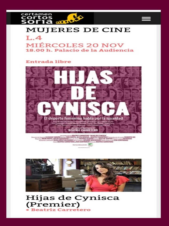 XXI CERTAMEN INTERNACIONAL DE CORTOS CIUDAD DE SORIA: MUJERES DE CINE