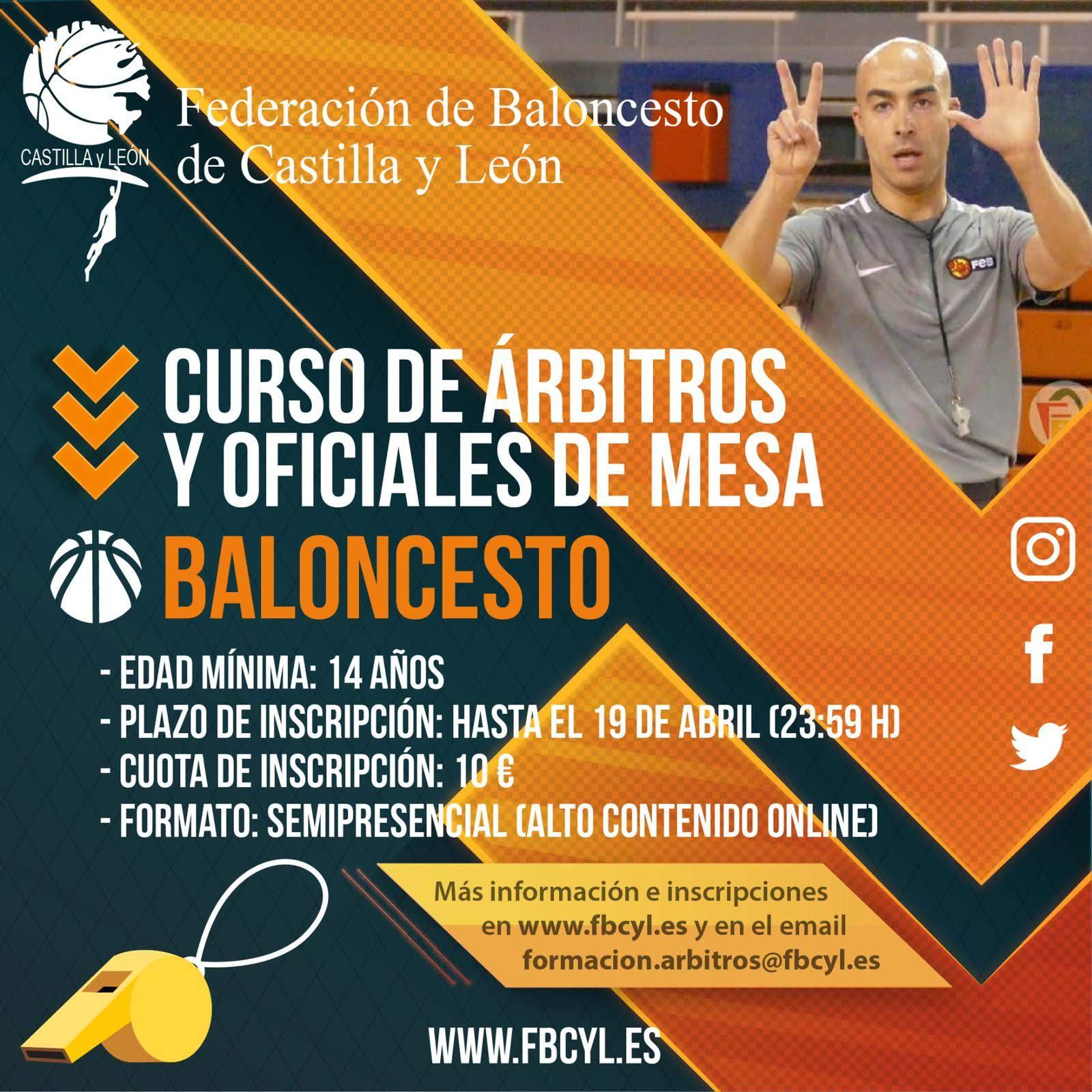 CURSO ON LINE DE ARBITROS Y OFICIALES DE MESA 2020 IMPARTIDO POR LA FEDERACIÓN DE BALONCESTO DE CASTILLA Y LEÓN