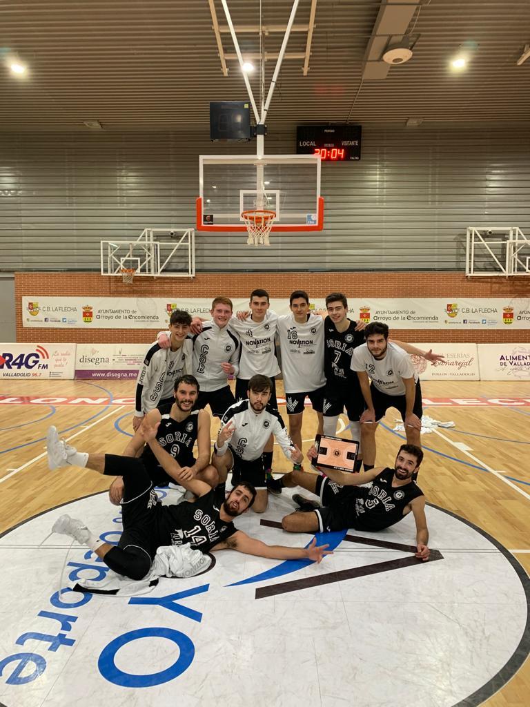 Gran partido del CSB Soria Ciudad del Deporte en la primera victoria a domicilio para situarse líder de su grupo en la Primera División masculina