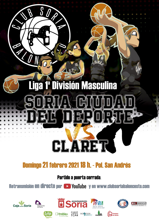CSB Ciudad del Deporte - CB Claret, en San Andrés