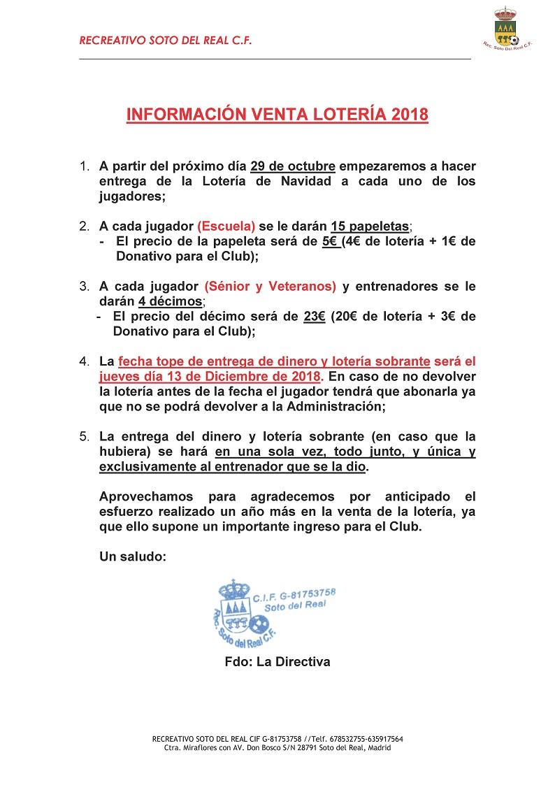 CAMPAÑA LOTERIA DE NAVIDAD 2018-2019