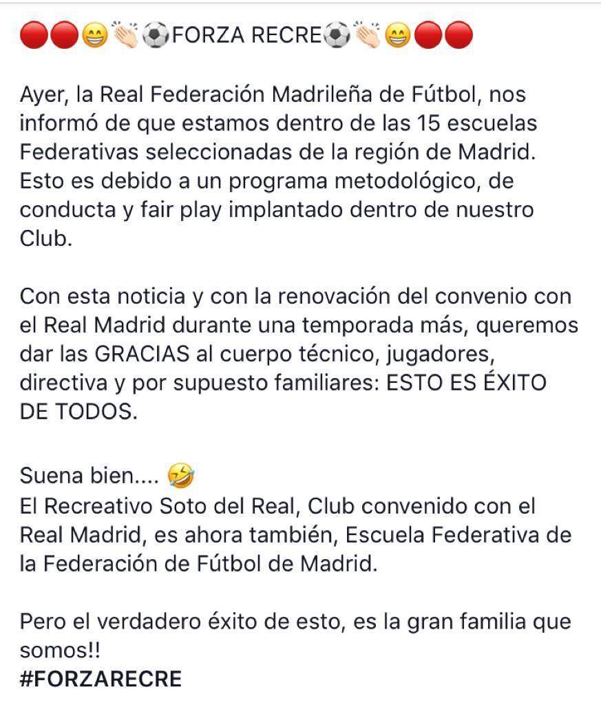 EL RECRE....  ESCUELA DE FUTBOL FEDERATIVA