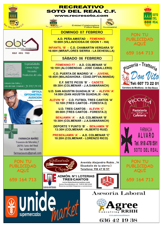 CARTEL SEMANAL 06 AL 07 FEBRERO 2020-2021