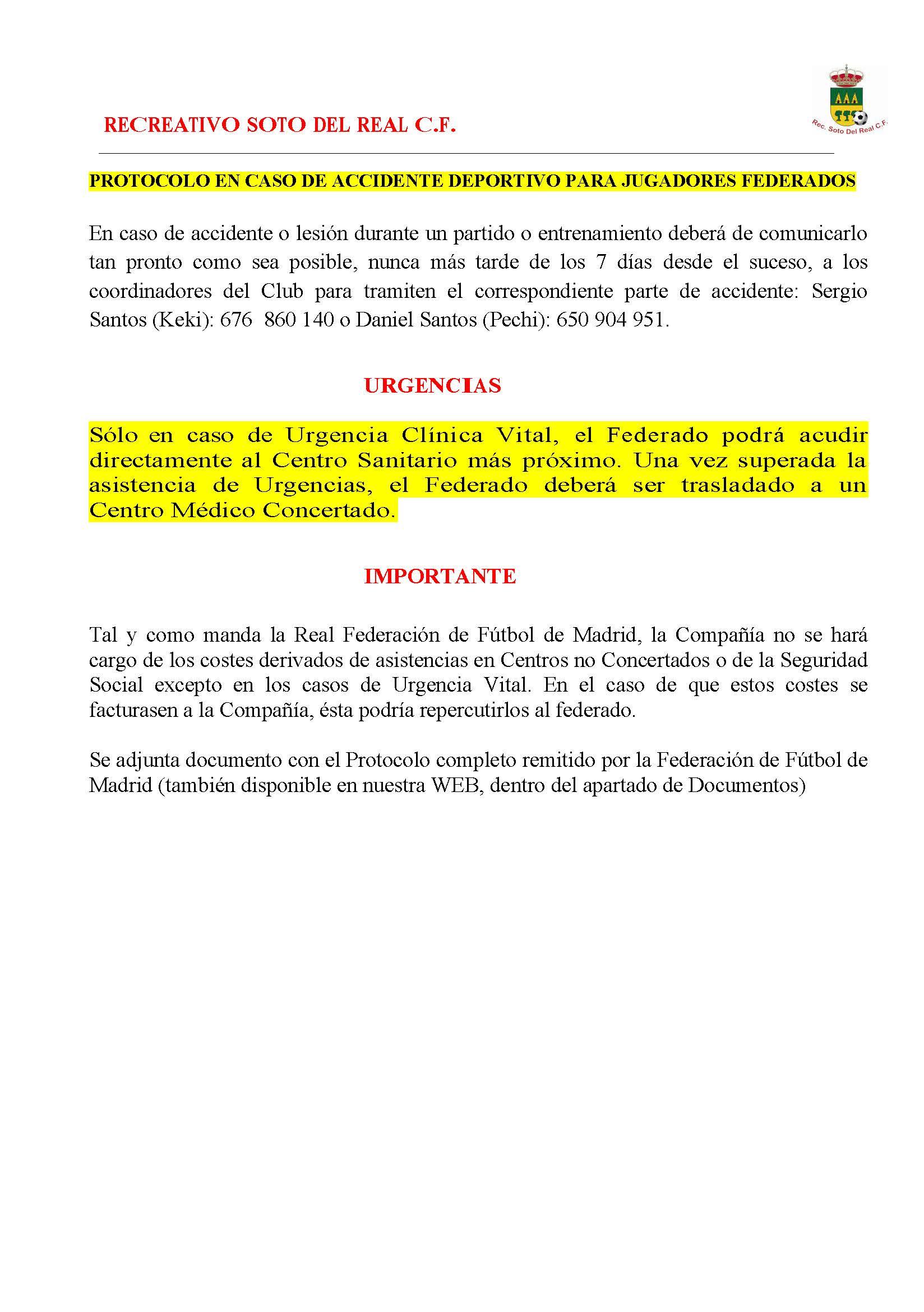 sdsPROTOCOLO EN CASO DE ACCIDENTE