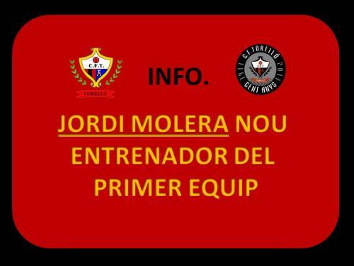 Jordi Molera nou entrenador del primer equip.