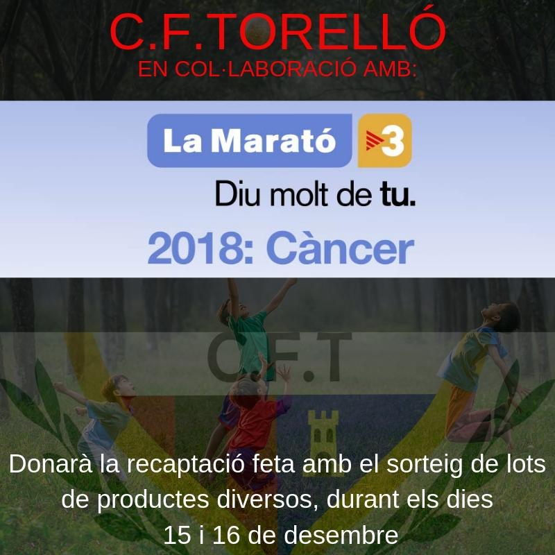 C.F. Torelló Col·labora amb la Marató de TV3