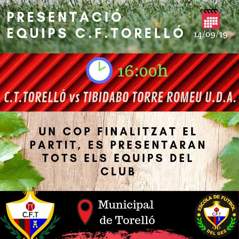 14/09 PRESENTACIÓ EQUIPS C.F.TORELLÓ I ESCOLA VALL DEL GES