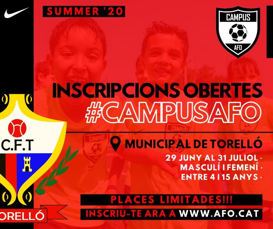 CAMPUS DE FUTBOL #CAMPUSAFO2020 INSCRIPCCIONS OBERTES