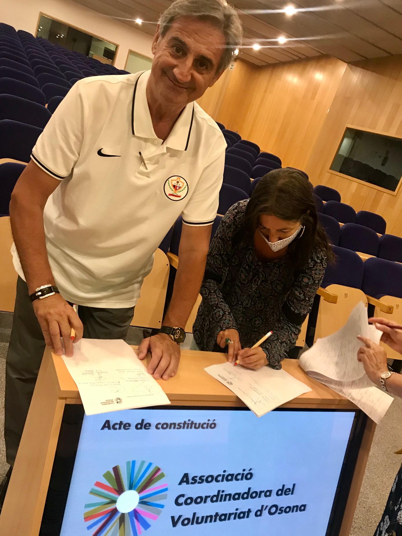 EL CF. TORELLÓ MEMBRE CONSTITUENT de l'ASSOCIACIÓ COORDINADORA del VOLUNTARIAT D'OSONA