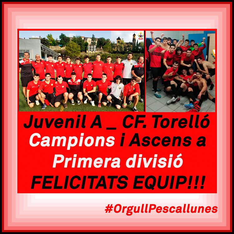 JUVENIL_A #CAMPIONS I #ASCENS A LA PRIMERA DIVISIÓ